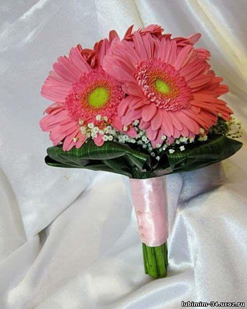 Букет из розовой герберы