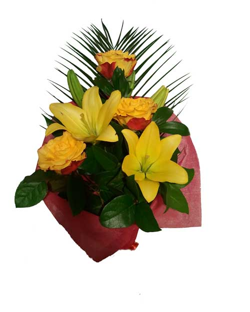 Букет из розы и лилии