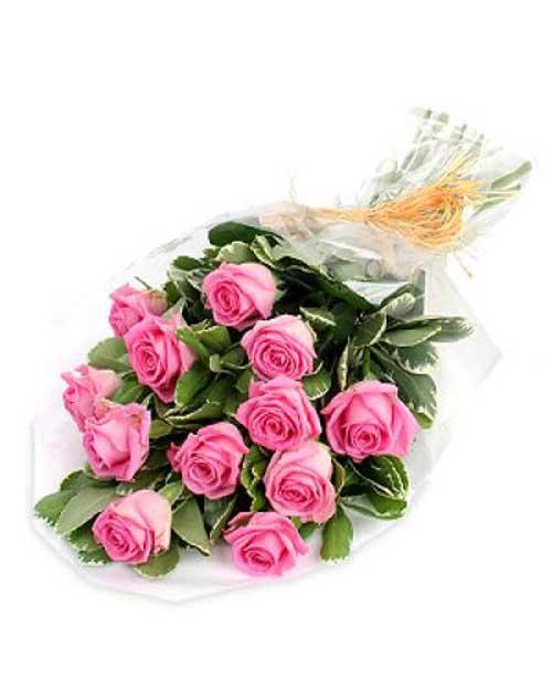 Букет из нежно розовой розы